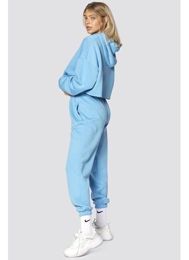 Madmext Mad Girls  Kapüşonlu Kadın Eşofman Takımı Mg467 Mavi